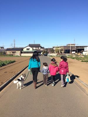 初散歩 愛犬 子供と犬