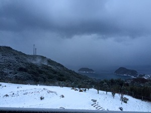 五島列島 雪景色