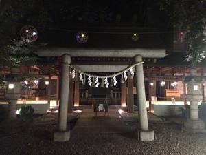 氷川神社 ライトアップ 風鈴