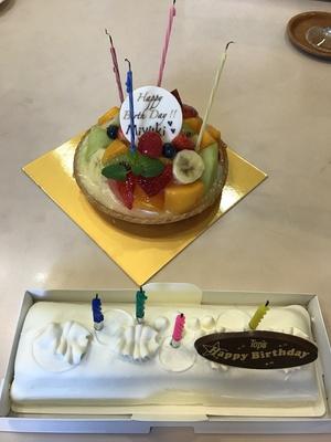 誕生日ケーキ お祝いして貰い幸せ